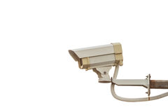 Security CCTV camera isolated on white Royalty Free Stock Photo
