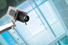 Security CCTV camera in office building Stock Photos