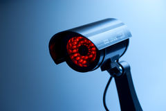 Security CCTV camera in office building Royalty Free Stock Photos