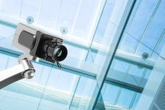 Security CCTV camera in office building Stock Image