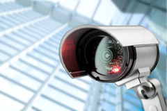 Security CCTV camera in office building Stock Photo