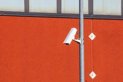 Security CCTV camera or surveillance system in office building.  Stock Photography