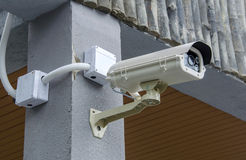 Security CCTV camera and urban video Royalty Free Stock Photography