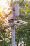 Security CCTV camera and urban video Royalty Free Stock Photos