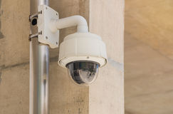 Security CCTV camera and urban video, electronic device Stock Photo