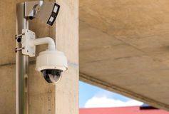 Security CCTV camera and urban video, electronic device Stock Images