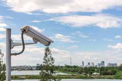 Security CCTV camera and urban video, electronic device Royalty Free Stock Photography