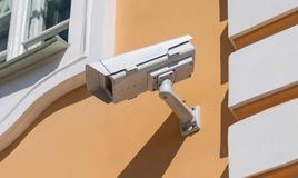 Security or cctv camera on wall Royalty Free Stock Image