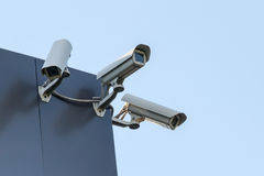 Security cctv cameras. On building Stock Image