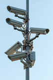 Security cctv cameras. On pylon Stock Photo