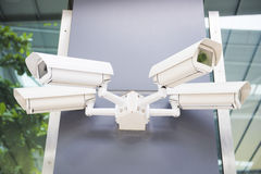 Security cctv cameras on the wall. Safety Stock Photography