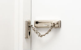 Security chain. For your home safety Stock Image