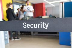Security check in airport. Security check of  luggage and  passengers in airport Stock Images