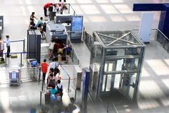 Airport Security. Security Check in airports or railway stations Royalty Free Stock Images