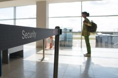 Security check of  baggage and  passengers in airport Stock Photography