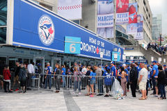 Security Check At A Baseball Game Royalty Free Stock Photo
