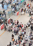 Security check at Beijing Capital International Airport. Royalty Free Stock Image