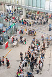 Security check at Beijing Capital International Airport. Stock Images