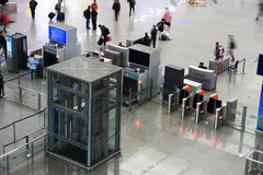 The security check in the railway station Royalty Free Stock Photography