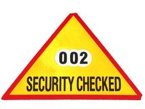 Security checked Royalty Free Stock Image