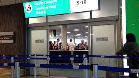 Security checkpoint gate insdie YVR airport Royalty Free Stock Photography