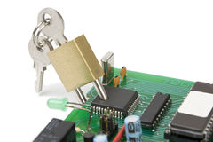 Security chip stock photo