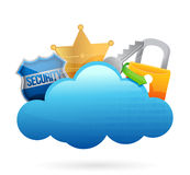 Security Cloud computing concept Royalty Free Stock Image