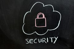 Security of cloud service Stock Photography