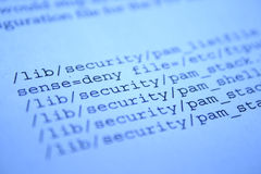 Security code Stock Images