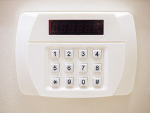 Security code button of Safe box with Electronic lock system stock photos