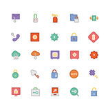 Security Colored Vector Icons 2 royalty free illustration