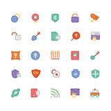 Security Colored Vector Icons 5 Royalty Free Stock Image