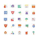 Security Colored Vector Icons 3 Stock Image