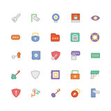 Security Colored Vector Icons 6 Royalty Free Stock Photography