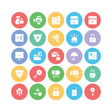 Security Colored Vector Icons 3 Royalty Free Stock Photos