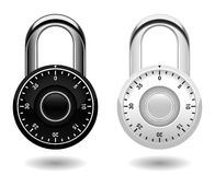 Security Combination Pad Lock Vector Royalty Free Stock Image