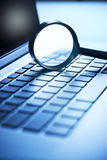 Security Computer Magnifying Glass Royalty Free Stock Photo