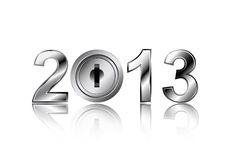 Security concept 2013 new year. Design stock illustration