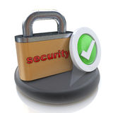 Security concept with lock Royalty Free Stock Photo