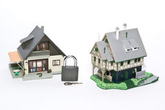 Security concept. House and lock Stock Images