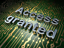 Security concept: Access Granted on circuit board background Royalty Free Stock Photography