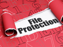 Security concept: black text File Protection under the piece of  torn paper Royalty Free Stock Photos
