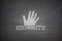 Security concept on blackboard Royalty Free Stock Image