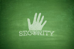 Security concept on blackboard Royalty Free Stock Images