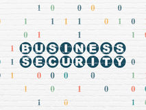 Security concept: Business Security on wall Royalty Free Stock Photos