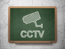 Security concept: Cctv Camera and CCTV on Stock Photography