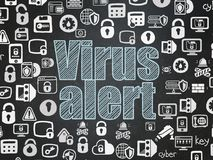 Security concept: Virus Alert on School board background Royalty Free Stock Images