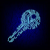 Security concept. Circuit board key vector illustration. Royalty Free Stock Photography
