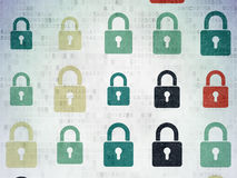 Security concept: Closed Padlock icons on Digital Stock Photography