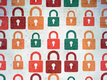 Security concept: Closed Padlock icons on Digital Royalty Free Stock Image